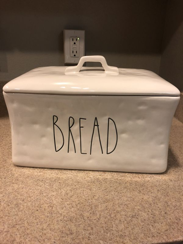 Rae Dunn Inspired Bread Box Canister Large Letter Engraved