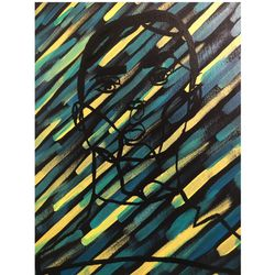 Abstract Girl Portrait Painting Thumbnail