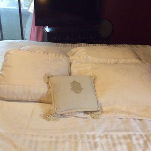 Waterford BEAUTIFUL duvet, Pillow shams, euro pillows an for Sale in Scottsdale, AZ