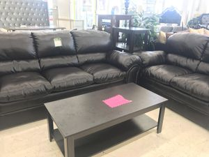 ESPRESSO BONDED LEATHER LIVING ROOM SET SOFA AND LOVESEAT ON SALE for Sale in Adelphi, MD