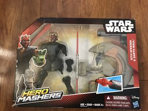 Rand new Disney Star Wars Hero Mashers Sith Speeder & Darth Maul (pick up only ) for Sale in Alexandria, VA