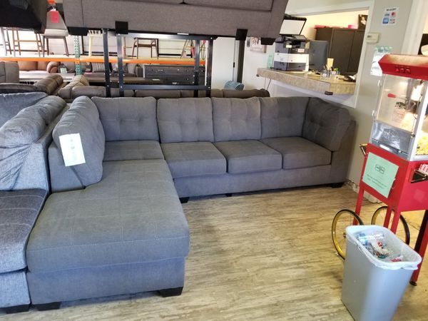 Pleasing Ashley Furniture 452 Sectional Grey Brand New For Sale In Mentor Oh Offerup Download Free Architecture Designs Viewormadebymaigaardcom