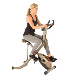 EXERPEUTIC GOLD 575 XLS Bluetooth Smart Technology Folding Upright Exercise Bike, 400 lbs for Sale in Hilliard, OH