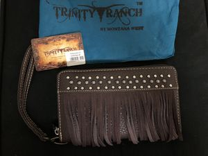 Trinity Ranch Brown Leather Fringe Wallet for Sale in Fort Worth, TX