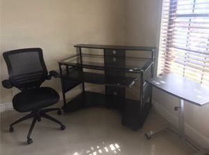 large office desks. Large Office Table With Chair \u0026 Small Adjus. Table For Sale In Fort  Lauderdale, Large Desks