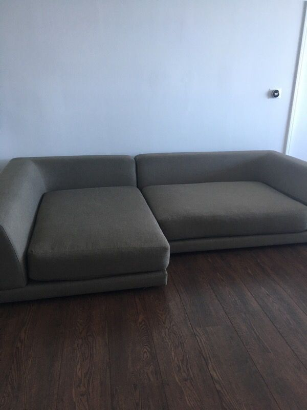 Peachy Cb2 Couch L Shape Uno 2 Piece Sectional Sofa For Sale In Pdpeps Interior Chair Design Pdpepsorg
