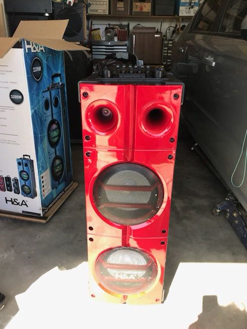 H&A wireless speaker 3,200W microphone & remote control inputs 6 Band  equalizer for Sale in Baldwin Park, CA - OfferUp