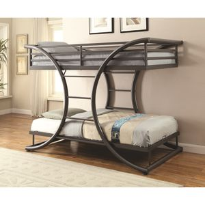 🦈Bunks Twin-over-Twin Contemporary Bunk Bed for Sale in Atlanta, GA