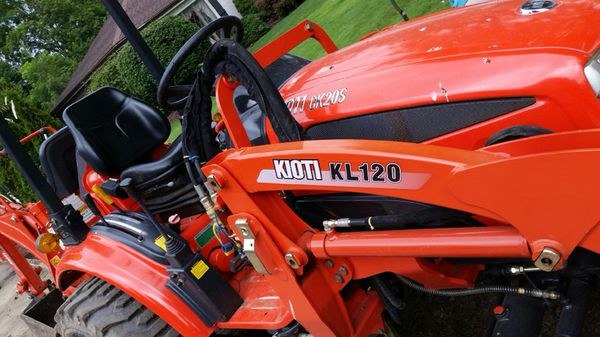 KIOTI tractor with front loader and backhoe attachment for Sale in Olmsted  Falls, OH - OfferUp