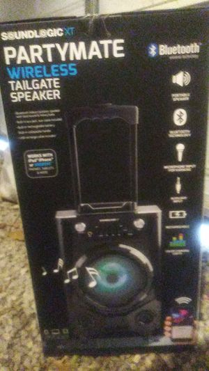 Party mate Wireless tailgate speaker with Bluetooth wireless technology for  Sale in Sugar Creek, MO - OfferUp