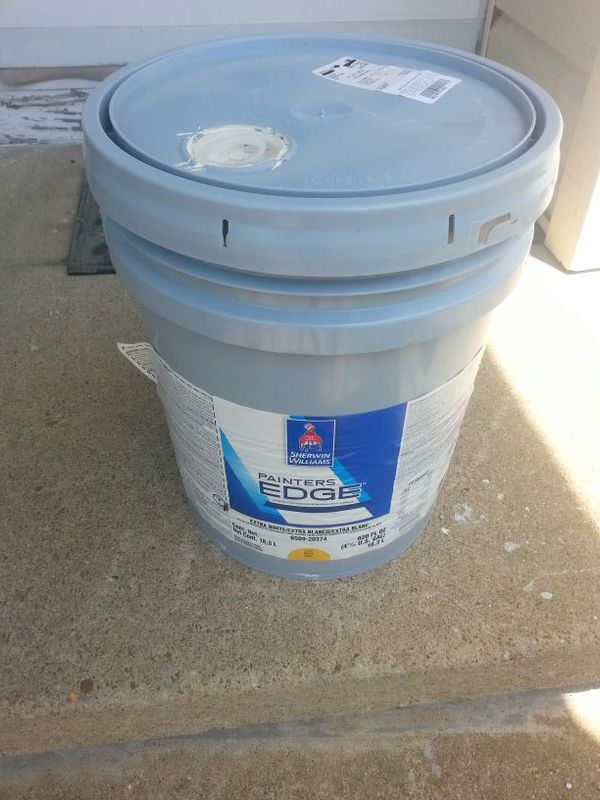 Brand New Sherwin Williams Interior Painters Edge 5 Gallon Flat Off White Paint