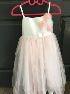 Little girls pink full fluffy adorable dress ! Size 5 for Sale in Apex, NC