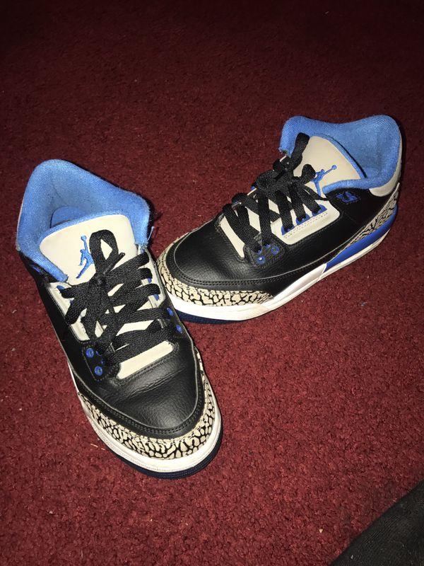 check out ea5cb 2c0ea Jordan 3s sport blue (gs) SZ:5.5 for Sale in Forest Park, GA - OfferUp