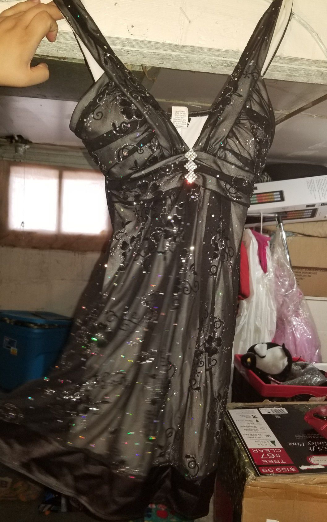 Short black and silver dress worn once, size small