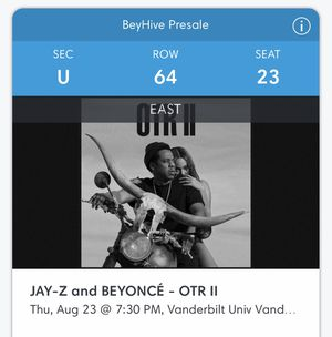 Beyonce and Jay-Z OTR II for Sale in Nashville, TN