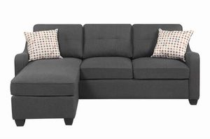 Grey sectional sofa with reversible chaise!!Brand new free delivery for Sale in Chicago, IL