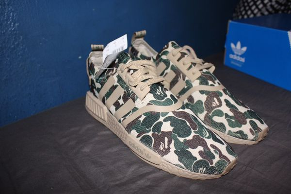 67dc8ac7aed92 Adidas NMD Camo(Bape) Tan Men s size 9.5 for Sale in Santa Ana