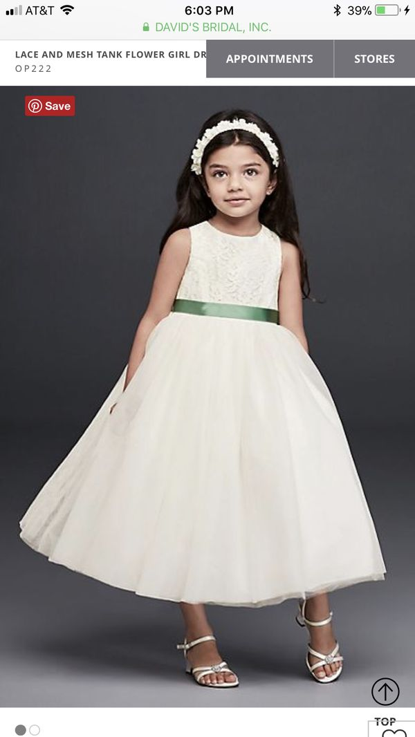 15b9d6ee880 David s bridal flower girl dress in Ivory for Sale in Palm Beach ...