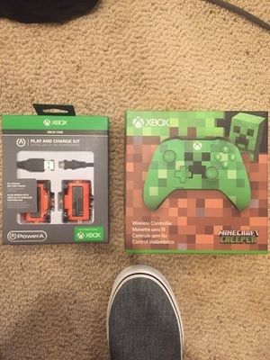Minecraft Xbox One Wireless Controller and Play and Charge Kit for Sale in Bethesda, MD
