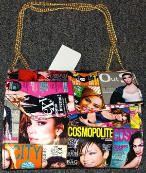 Magazine Collage Chain Linked Purse for Sale in Pittsburgh, PA