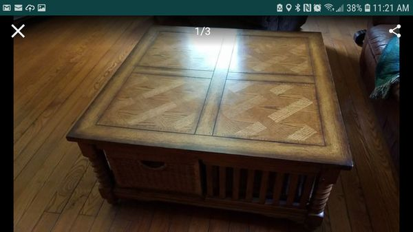 American Signature Coffee Table And 2 End Tables