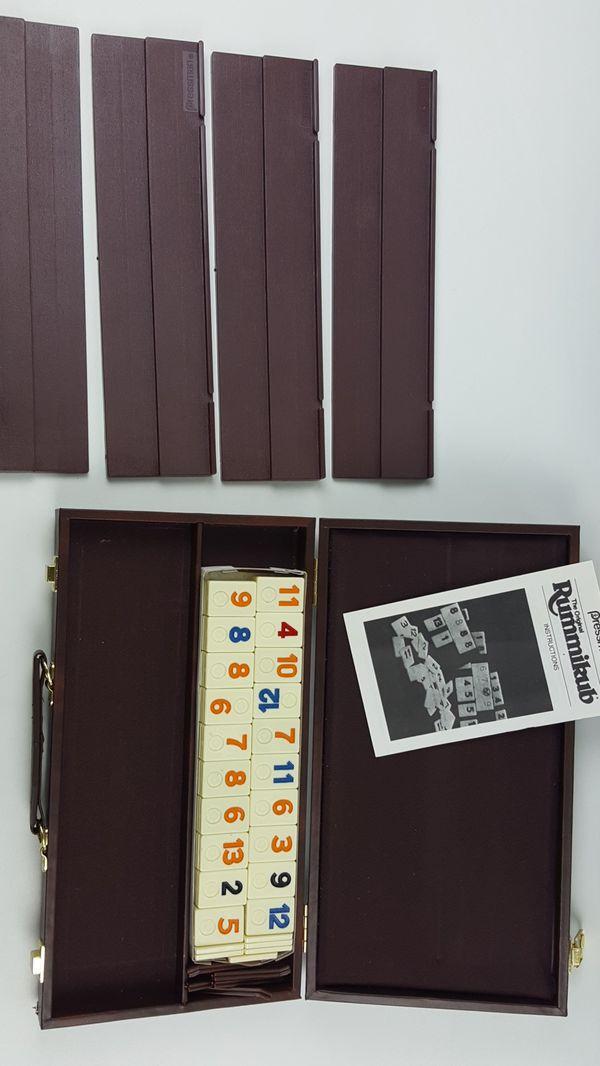 Tournament Rummikub Board Game 1985 Pressman Complete Game Case