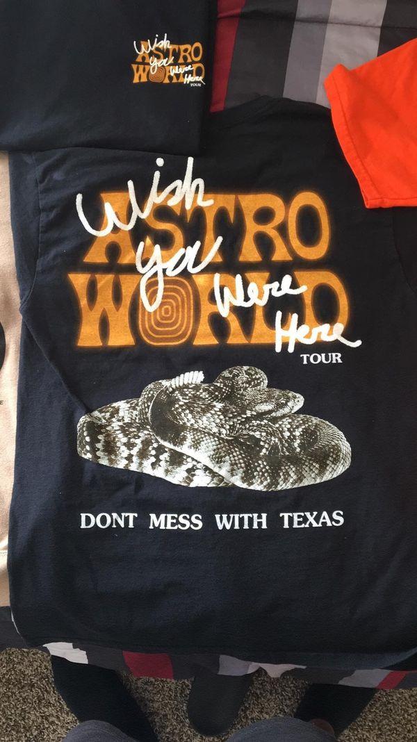 123f7b16ff1f Travis Scott Astroworld Leg 2 T-Shirt Small Texas for Sale in New ...