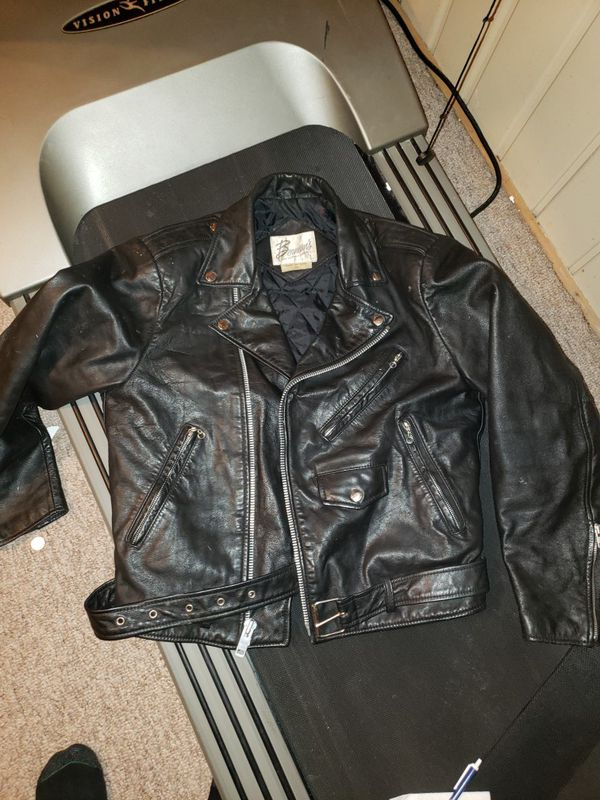 47256b1fc Vintage Bermans Leather Motorcycle Jacket for Sale in White Bear Lake, MN -  OfferUp