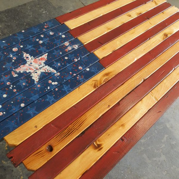 Wooden American Flag Wall Art For Sale In Tempe Az Offerup