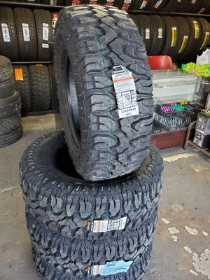 Photo 285/70/17LT NEW MUD TIRES FOR 800 DOLLARS WITH EVERYTHING INCLUDED TAX INCLUDED FINANCING AVAILABLE NO CREDIT CHECK, 90 DAYS SAME AS CASH