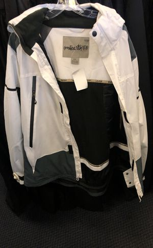 Black & white snow boarding jackets and pants jacket and pants sold together for only $75 for Sale in Temecula, CA