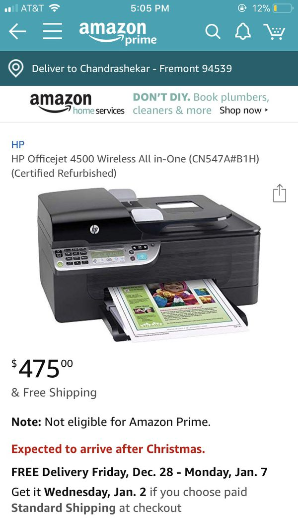 Hp Officejet 4500 All In One Printer - Office Decorating Ideas