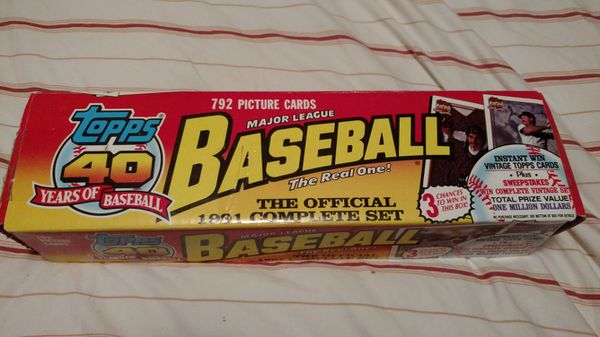 0efb2fc944d Original 1991 Topps baseball card set in box. (Collectibles) in Kenmore