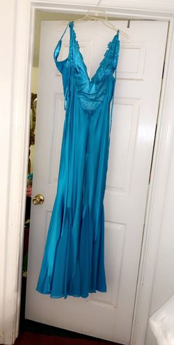 Sky Blue Sequins Prom Dress Thumbnail