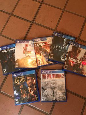 PlayStation 4 (Games) Bundle 150 for Sale in Philadelphia, PA