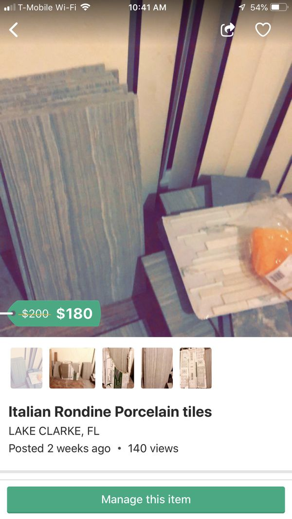 Italian Rondine Tiles: porcelain for Sale in West Palm Beach, FL - OfferUp