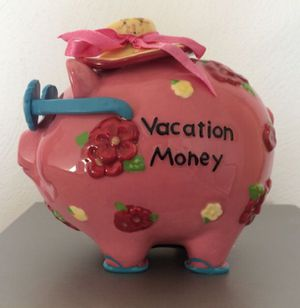 """""""Vacation Money"""" Ceramic Piggy Bank for Sale in Pittsburgh, PA"""