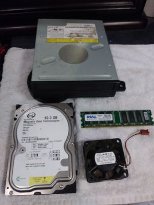 Misc. Computer parts DVD/CD R/RW drive , fan,memory card& hard drive for Sale in North Charleston, SC