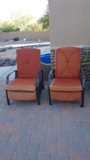 Reclining outdoor chairs for Sale in Buckeye, AZ