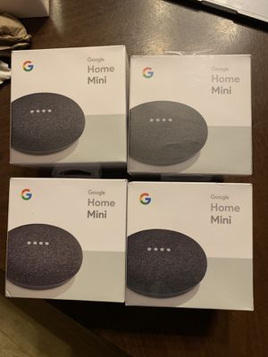 4 Google Home Mini Charcoal Brand New for Sale in Germantown, MD