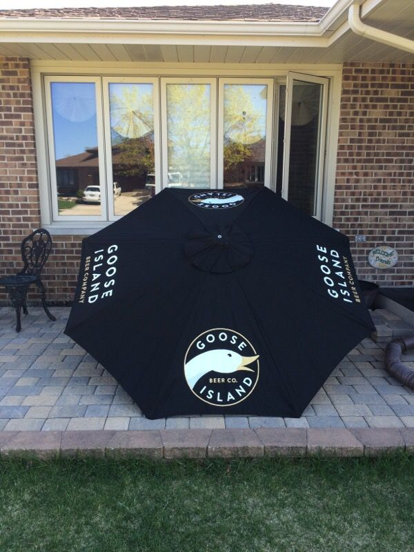 Goose Island Patio Umbrella Beer Sign For In Tinley Park Il Offerup