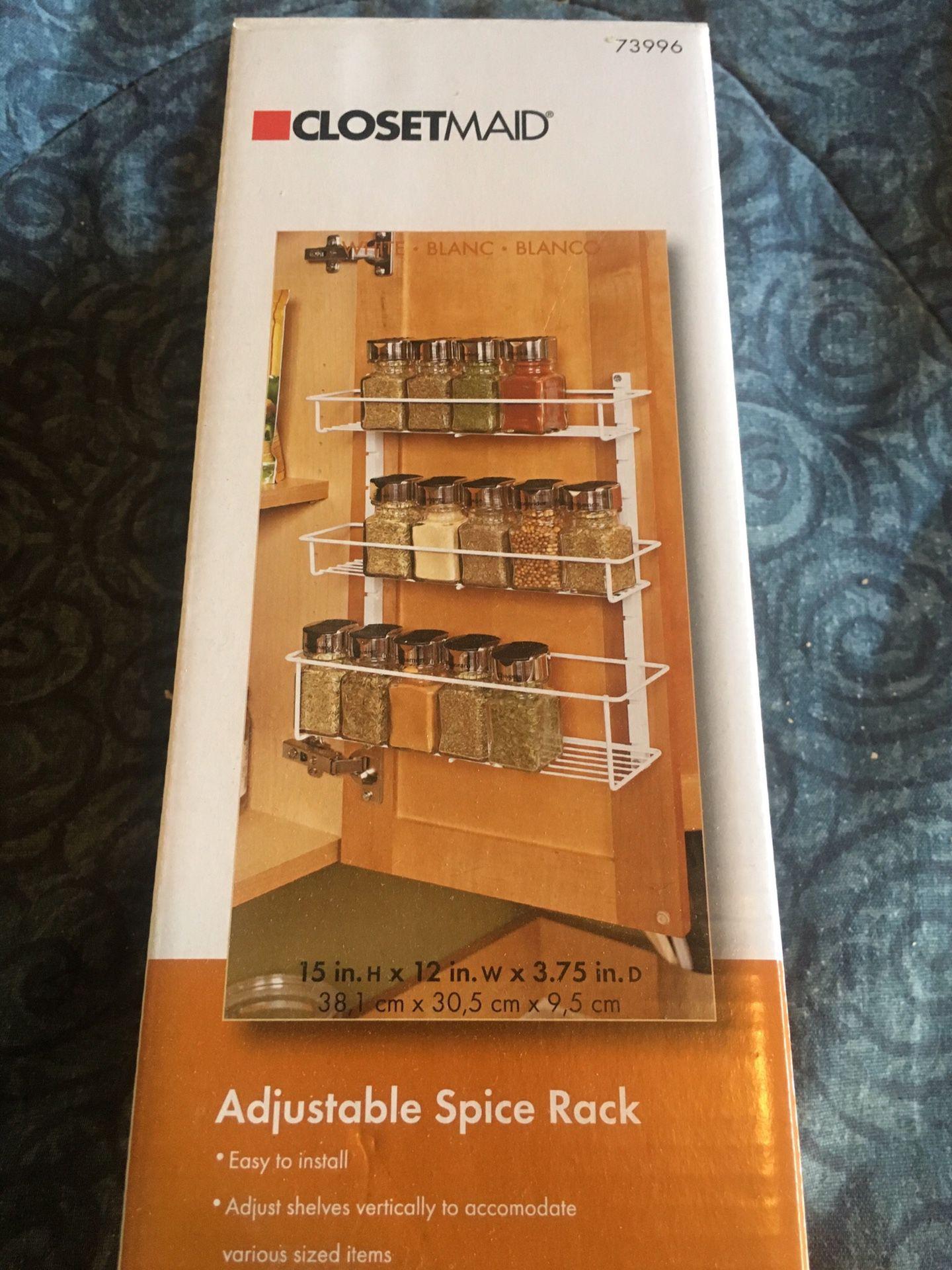 Closetmaid adjustable spice rack