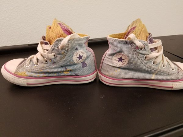 68f74d4f3c2 Converse denim party high  8 for Sale in Irving