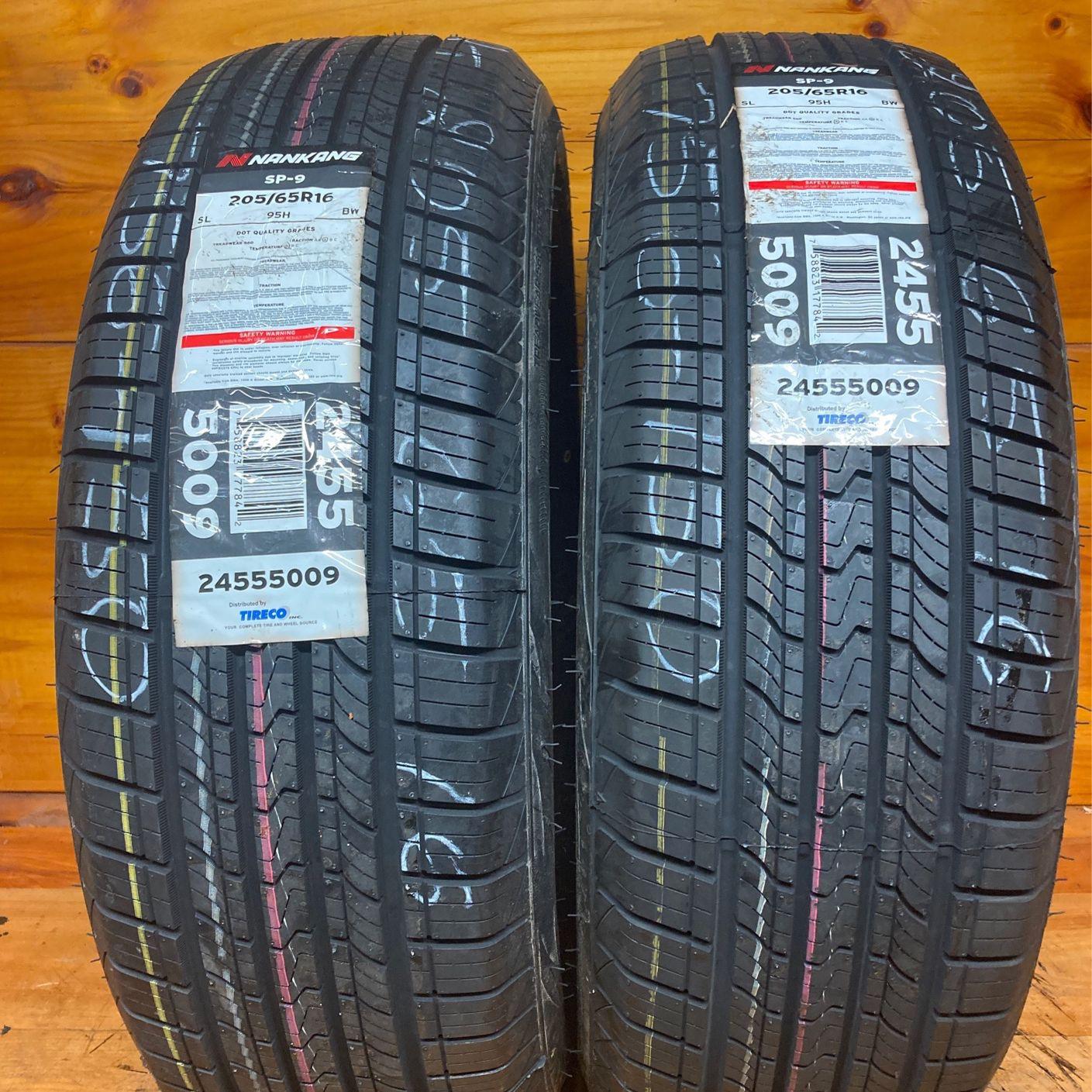 Brand New  Pair  2 Tires 205-65-16 Nanking Like New Stock 756-150