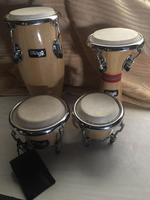 staff mini latin percussion drum set conga djembe bongos 1 mini djembe diam 3 3 4 high 1. Black Bedroom Furniture Sets. Home Design Ideas
