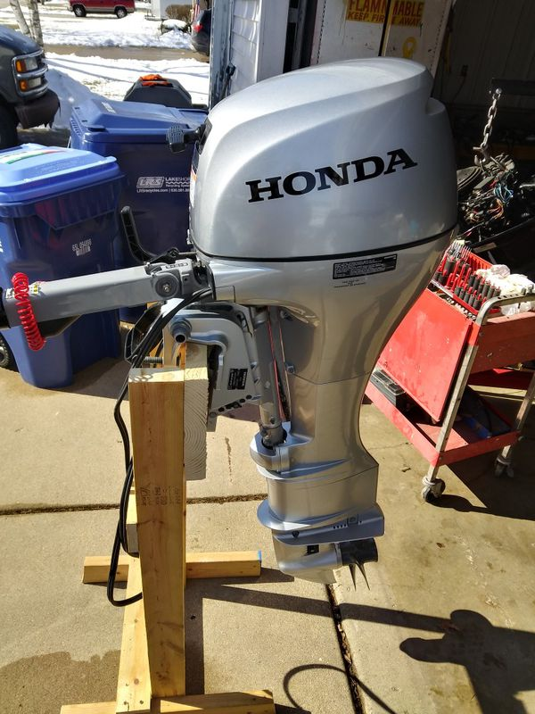 2019 .. 8 hp honda outboard high thrust electric start