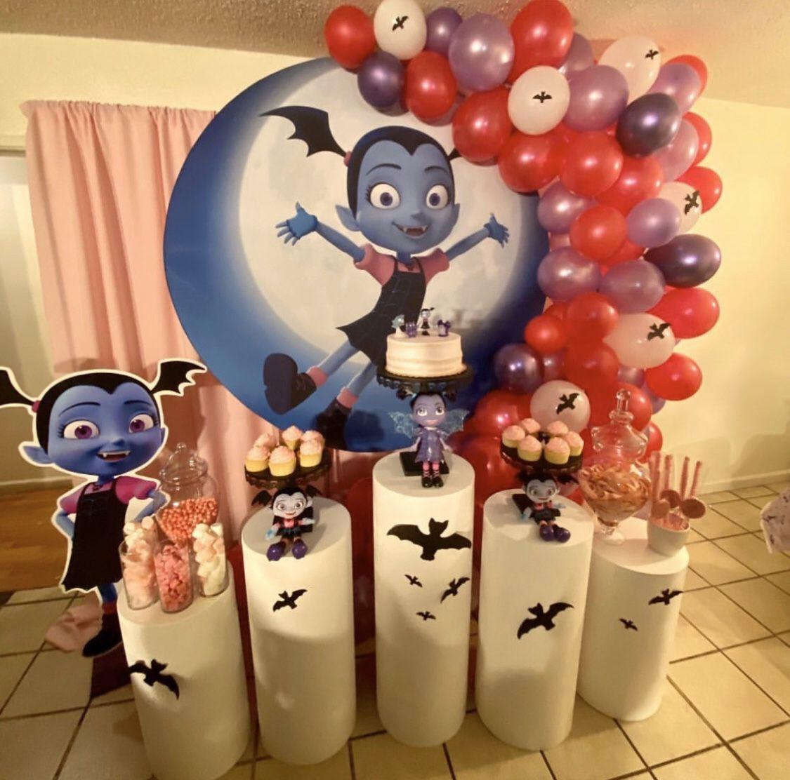 Vampirina party set up