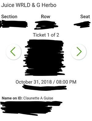 G HERBO and JUICE WORLD Concert Tickets for Sale in Griffith, IN