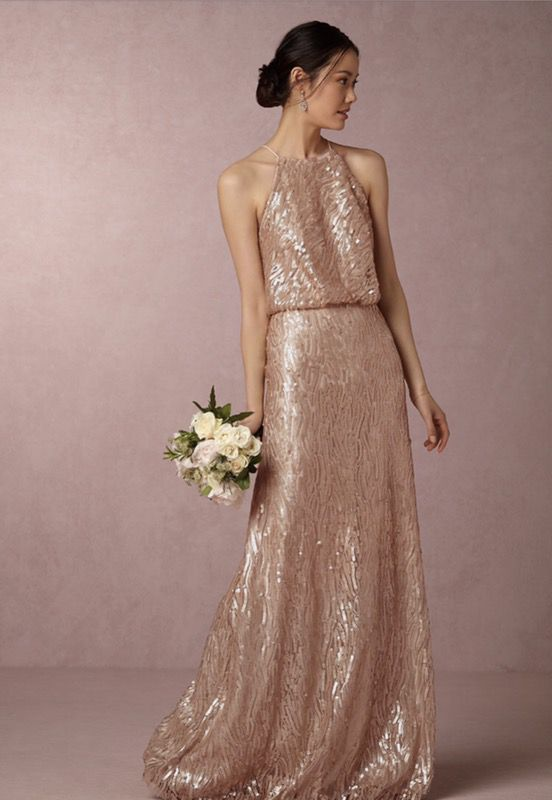 Brand new with tags rose gold dress