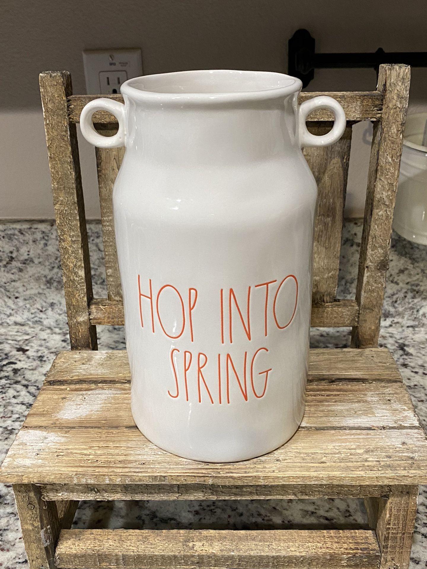 Rae Dunn Hop Into Spring Vase